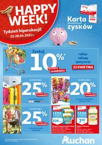 Gazetka promocyjna Auchan Hipermarket - Wielka skarbonka Auchan - ważna do 28-04-2021
