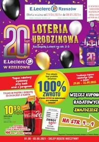 Gazetka promocyjna E.Leclerc - Wielkie loterie w E.Leclerc Rzeszów - ważna do 08-05-2021