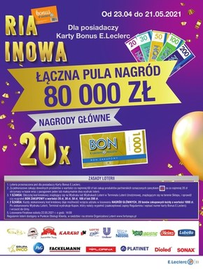 Wielkie loterie w E.Leclerc Rzeszów