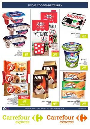 Gazetka promocyjna Carrefour Express - Kupuj codziennie w Carrefour Express