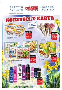 Gazetka promocyjna Społem Olsztyn - Korzyści z kartą w Społem Olsztyn   - ważna do 10-05-2021