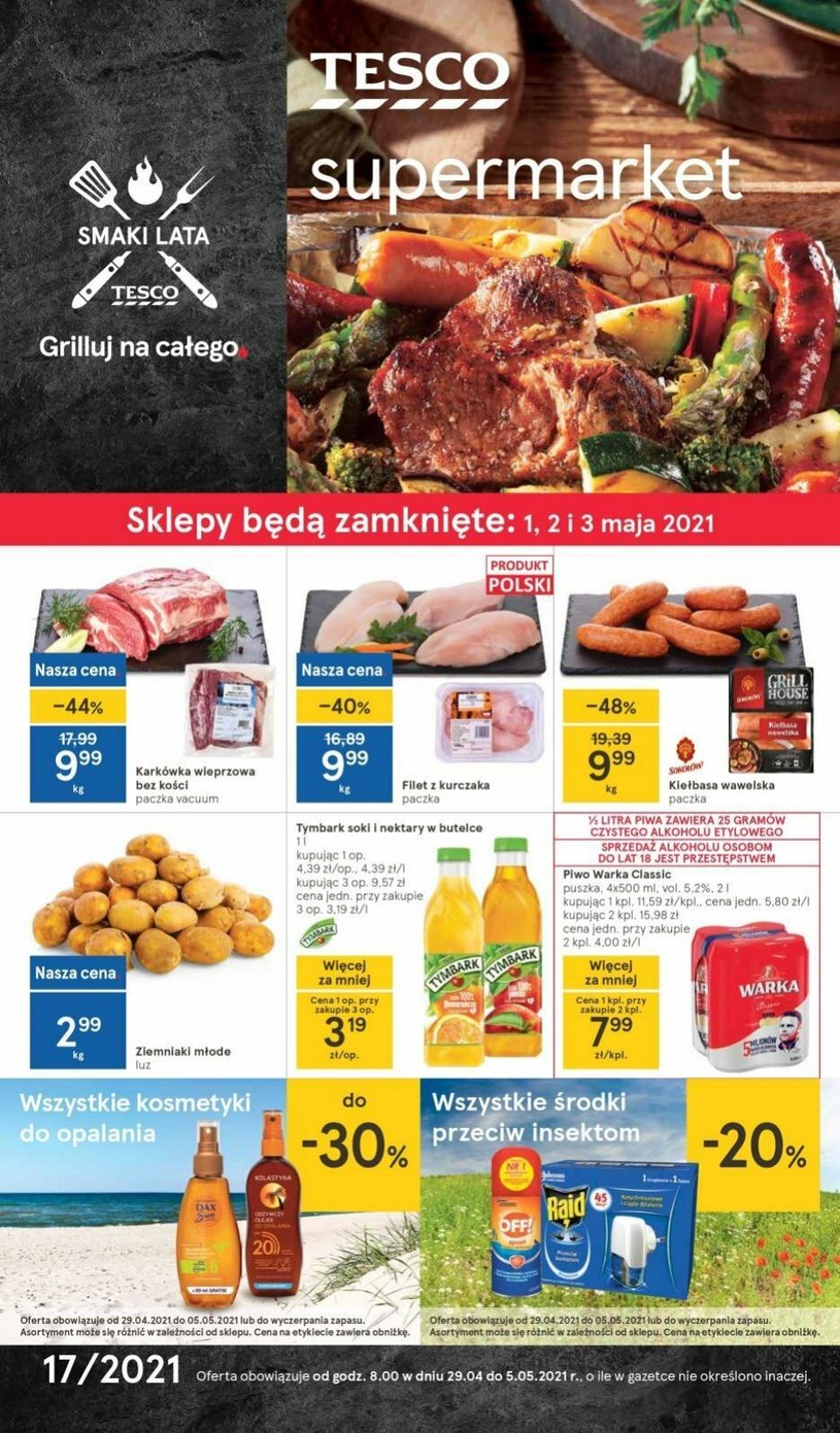 Gazetka promocyjna Tesco Supermarket - wygasła 4 dni temu