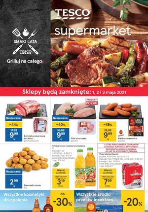 Gazetka promocyjna Tesco Supermarket - Sezon grillowy w Tesco Supermarket
