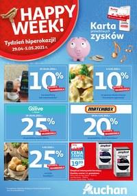 Gazetka promocyjna Auchan Hipermarket - Skarbonka Auchan - Happy Week  - ważna do 05-05-2021