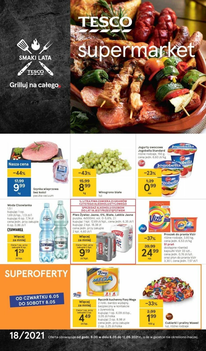 Gazetka promocyjna Tesco Supermarket - ważna od 06. 05. 2021 do 12. 05. 2021