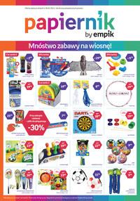 Gazetka promocyjna Papiernik by Empik - Papiernik - mnóstwo zabawy na wiosnę! - ważna do 18-05-2021