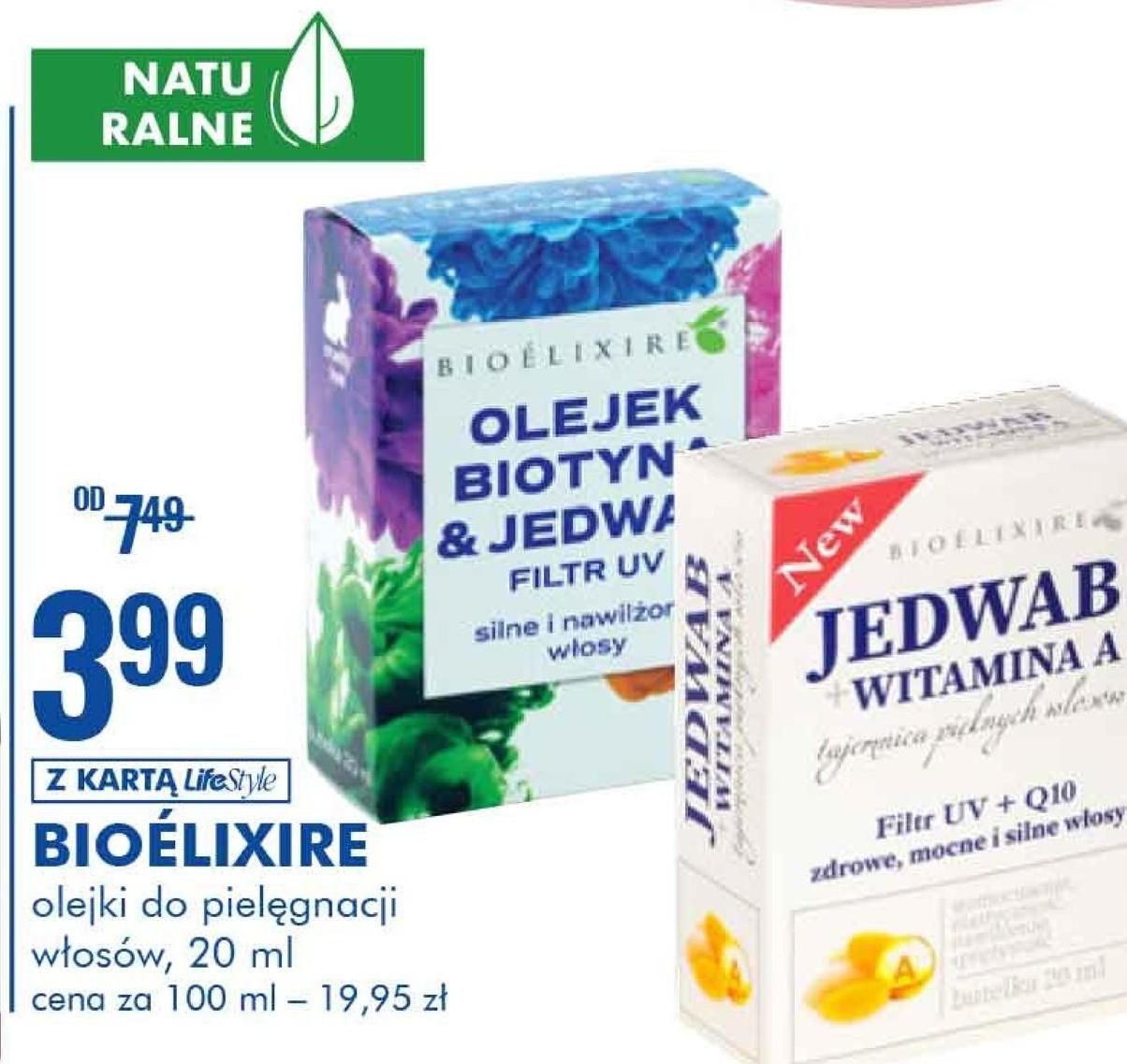 Olejek do włosów Bioelixire niska cena