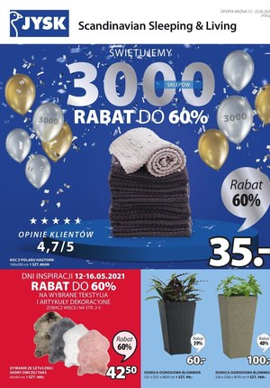 Gazetka promocyjna Jysk - Jysk świętuje 3000 sklepów!