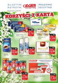 Gazetka promocyjna Społem Olsztyn - Korzyści z kartą w Społem Olsztyn   - ważna do 24-05-2021