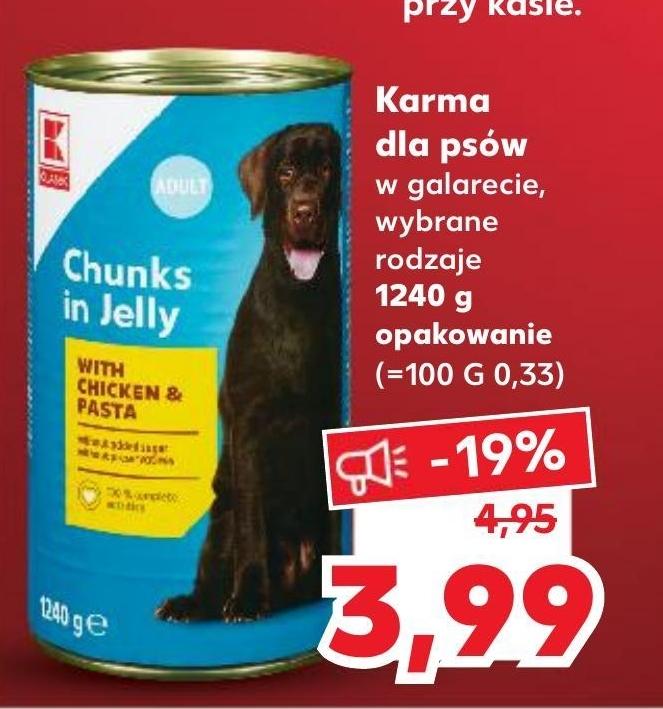 Karma dla psa Kaufland niska cena