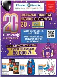 Gazetka promocyjna E.Leclerc - Wielkie wygrane w E. Leclerc Rzeszów - ważna do 22-05-2021