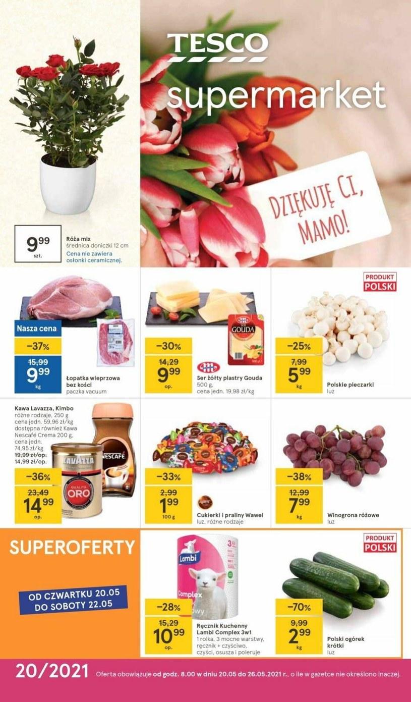 Gazetka promocyjna Tesco Supermarket - ważna od 20. 05. 2021 do 26. 05. 2021