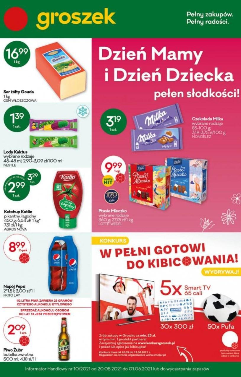 Gazetka promocyjna Groszek  - ważna od 20. 05. 2021 do 01. 06. 2021