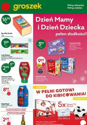 Gazetka promocyjna Groszek  - Groszek - Dzień mamy i Dzień Dziecka