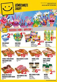Gazetka promocyjna Uśmiechnięte zakupy - Oszczędzaj z nami - Uśmiechnięte Zakupy!  - ważna do 13-06-2021