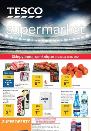 Gazetka promocyjna Tesco Supermarket - Przygotuj się na mecze z Tesco