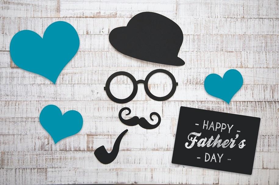 Dzień ojca -karta z życzeniami.