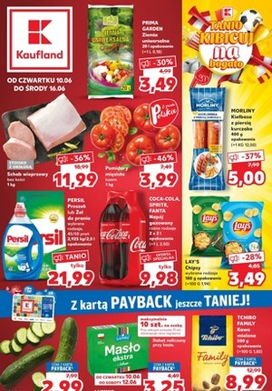 Gazetka promocyjna Kaufland - Kaufland - tanio kibicuj na bogato!