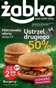 Promocje na burgery w Żabce