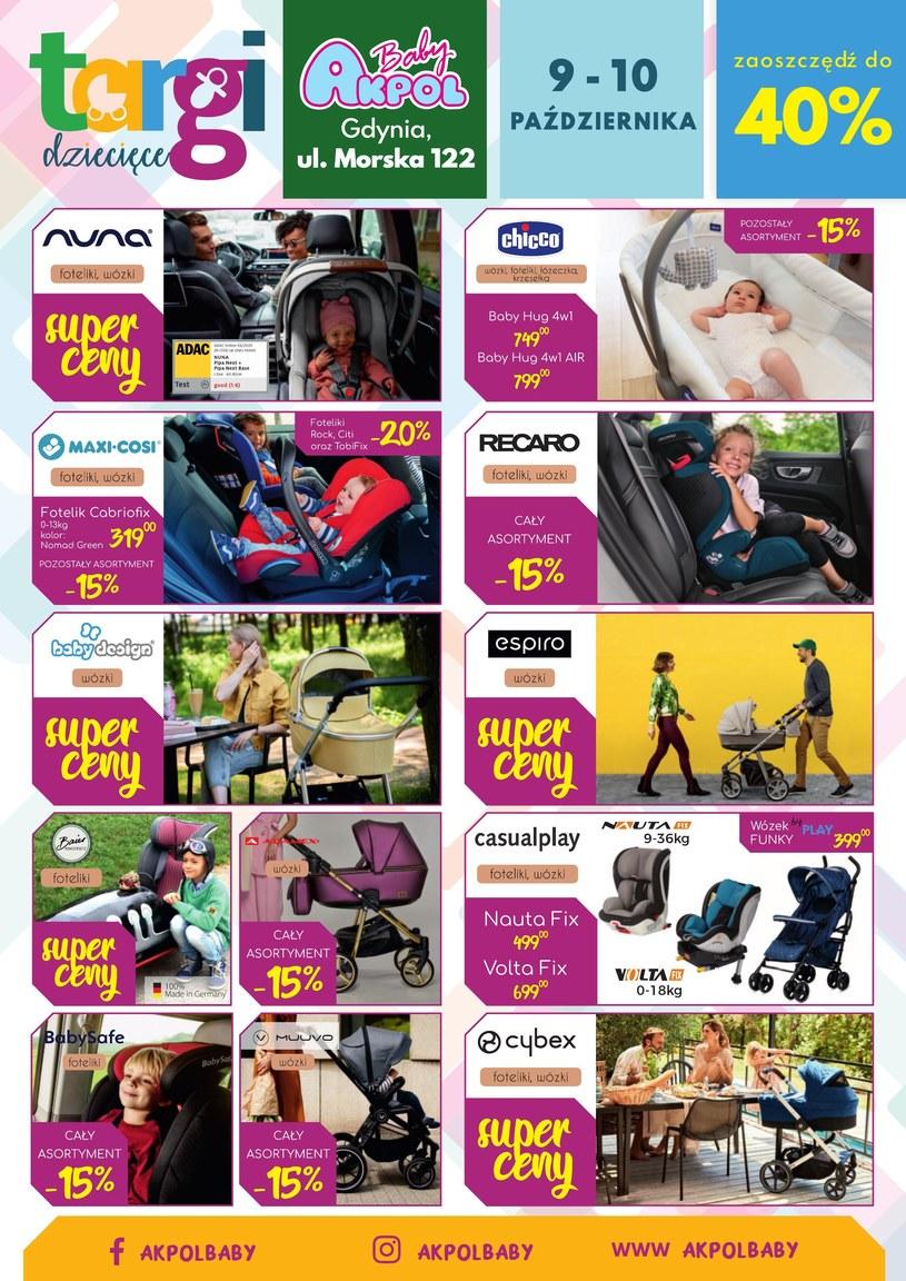 Gazetka promocyjna Akpol Baby - ważna od 09. 10. 2021 do 10. 10. 2021