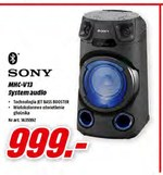 System audio Sony