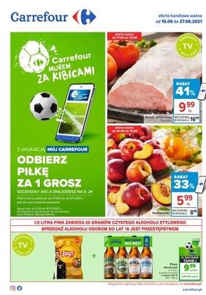 Gazetka promocyjna Carrefour - Carrefour murem za kibicami