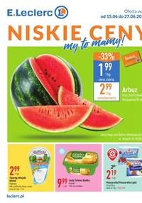 Gazetka promocyjna E.Leclerc - Niskie Ceny - oferta dotyczy wybranych sklepów   - ważna do 27-06-2021