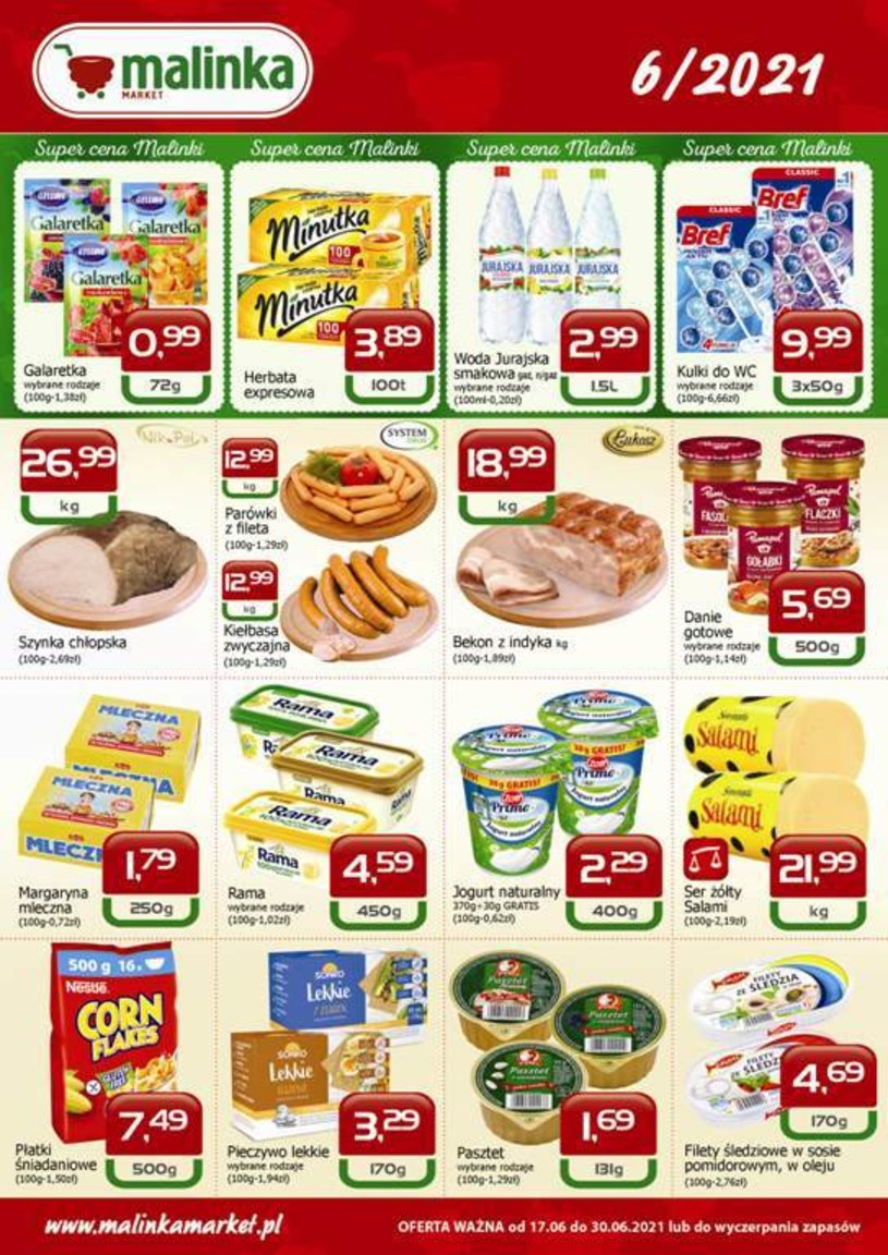 Gazetka promocyjna MALINKA Market - ważna od 17. 06. 2021 do 30. 06. 2021