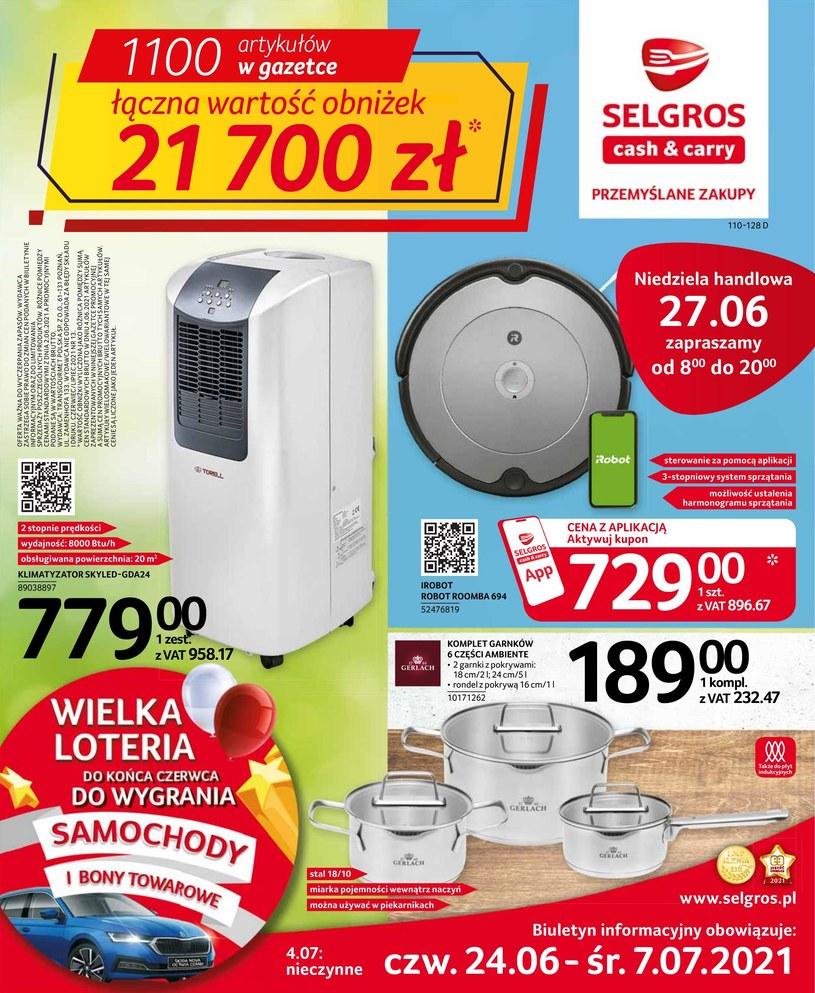 Gazetka promocyjna Selgros Cash&Carry - ważna od 24. 06. 2021 do 07. 07. 2021