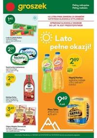 Gazetka promocyjna Groszek  - Lato pełne okazji w sklepach Groszek - ważna do 13-07-2021