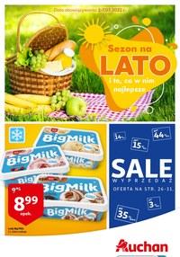 Gazetka promocyjna Auchan Supermarket - Wielkie wyprzedaże w Auchan - ważna do 07-07-2021