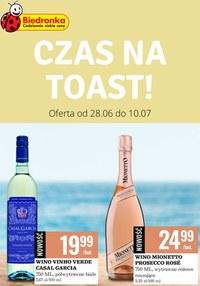 Gazetka promocyjna Biedronka - Czas na toast z Biedronką! - ważna do 10-07-2021