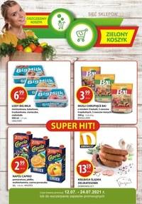 Gazetka promocyjna Zielony Koszyk - Takie zakupy w sklepach Zielony Koszyk! - ważna do 24-07-2021