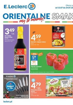 Gazetka promocyjna E.Leclerc - Katalog centralny V1: Orientalne Smaki - oferta dotyczy wybranych sklepów