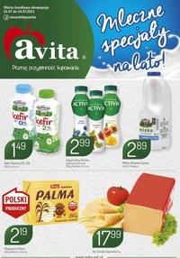 Gazetka promocyjna Avita - Mleczne specjały na lato w Avita - ważna do 24-07-2021