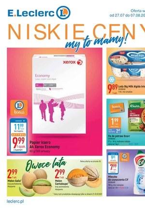 Gazetka promocyjna E.Leclerc - Niskie Ceny - oferta dotyczy wybranych sklepów