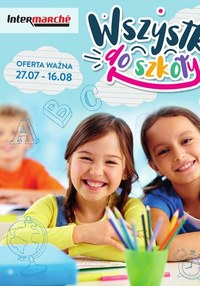 Gazetka promocyjna Intermarche Super - Wszystko do szkoły w Intermarche  - ważna do 16-08-2021
