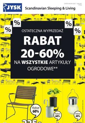 Gazetka promocyjna Jysk - Jysk - rabaty do -60% na artykuły ogrodowe!