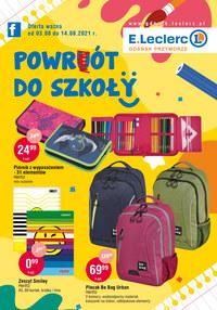 Gazetka promocyjna E.Leclerc - E.Leclerc Gdańsk - powrót do szkoły