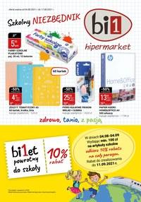 Gazetka promocyjna bi1 - bi1 - szkolny niezbędnik - ważna do 17-08-2021