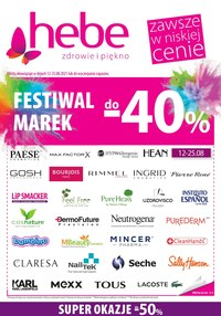 Gazetka promocyjna Hebe - Festiwal marek w Hebe! - ważna do 25-08-2021