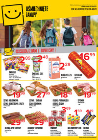 Gazetka promocyjna Uśmiechnięte zakupy - Oszczędzaj z nami - Uśmiechnięte Zakupy!   - ważna do 05-09-2021