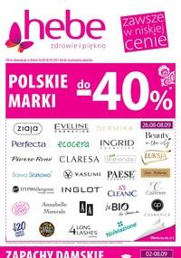 Gazetka promocyjna Hebe - Polskie marki taniej w Hebe - ważna do 08-09-2021