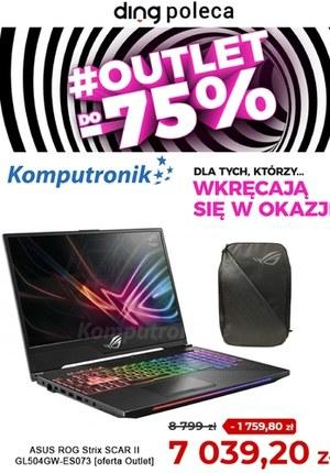 Gazetka promocyjna Komputronik - Komputronik - outlet do -75%!