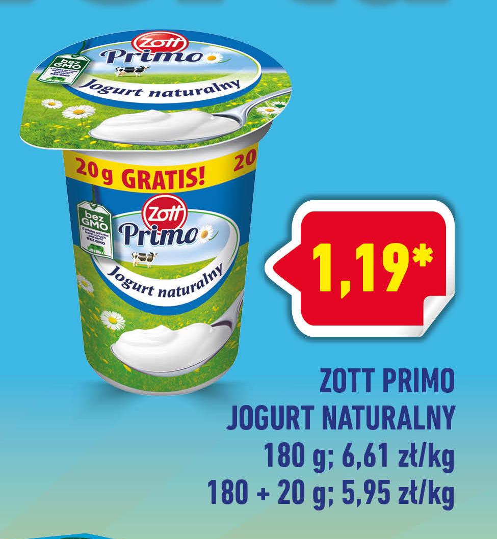 Jogurt naturalny Zott niska cena