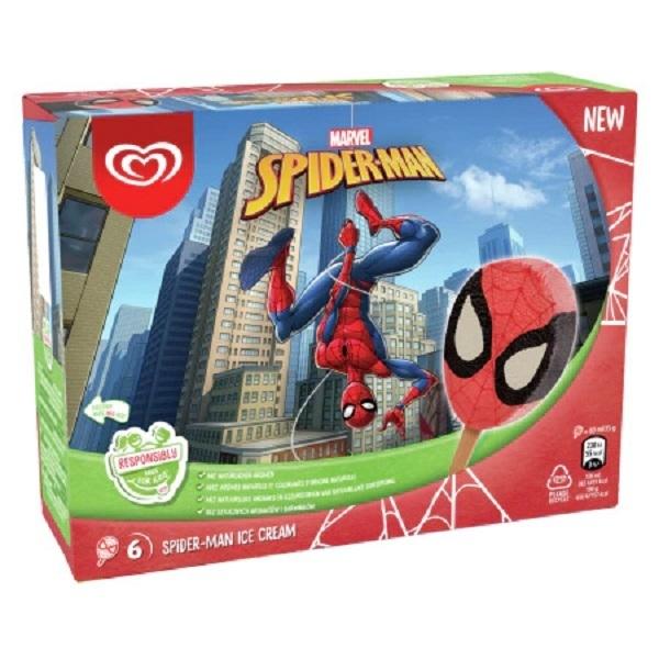 Lody Spiderman Algida z Biedronki
