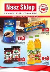 Gazetka promocyjna Nasz Sklep - Nasz Sklep - nowa oferta handlowa - ważna do 11-09-2021
