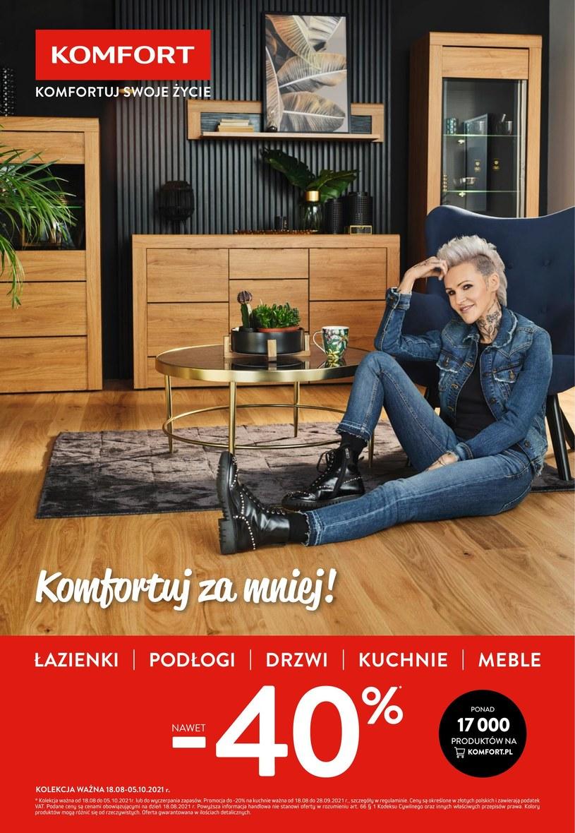 Gazetka promocyjna Komfort - ważna od 18. 08. 2021 do 05. 10. 2021