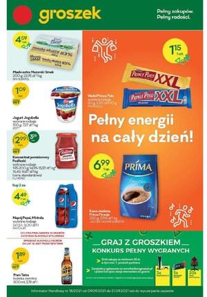 Gazetka promocyjna Groszek  - Graj w zielone z Groszkiem