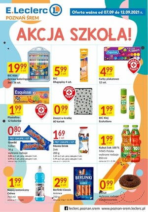 Gazetka promocyjna E.Leclerc - Akcja szkolna w E.Leclerc Poznań
